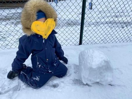 Sååå gøy med snø ⛄️⛄️