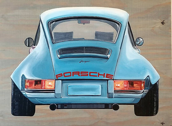 "Signed Print of ""Porsche"""