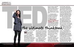TED Magazine Spread