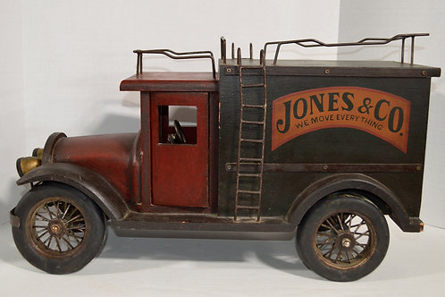 Large Vintage Style Jones & Co. Moving Van