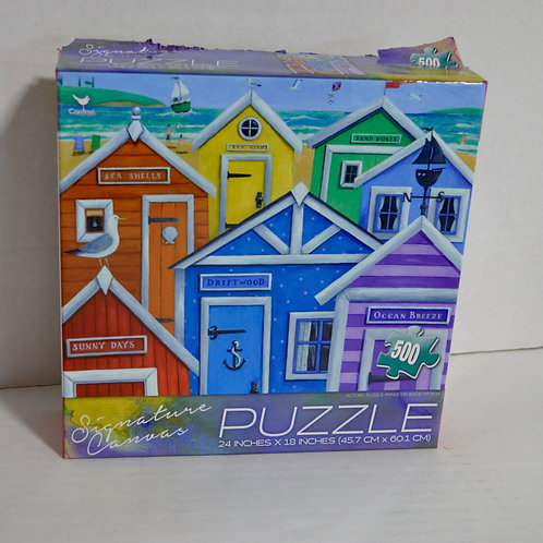 """500 Piece Puzzle """"Beach Houses"""" by Cardinal"""