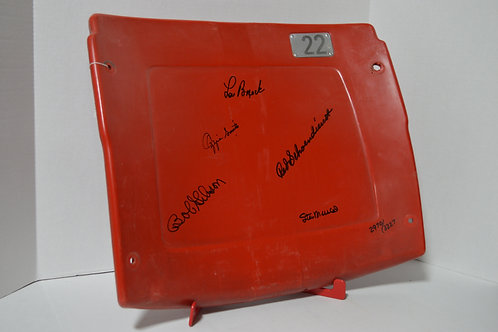 Busch Stadium Chair signed by Cardinals Hall of Famers
