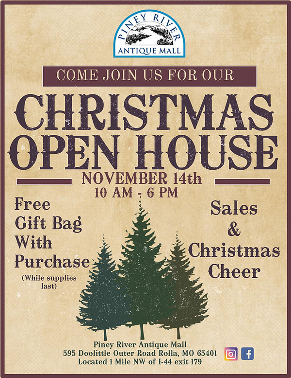 Piney River Antique Mall Xmas Open House