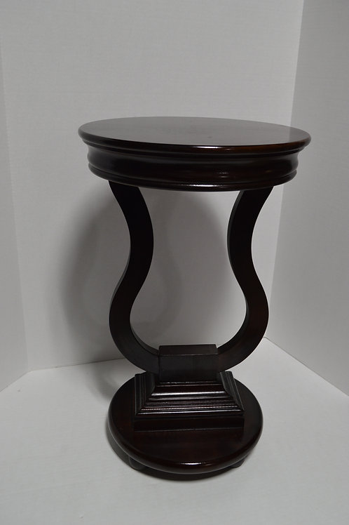 Dark Wood Harp End Table Fern Stand