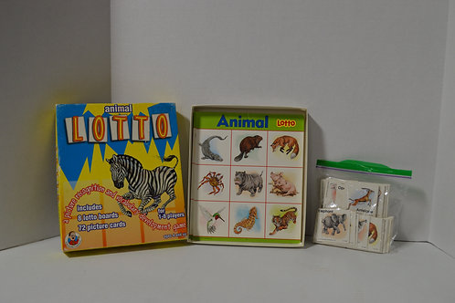 Vintage Animal Lotto Game Set