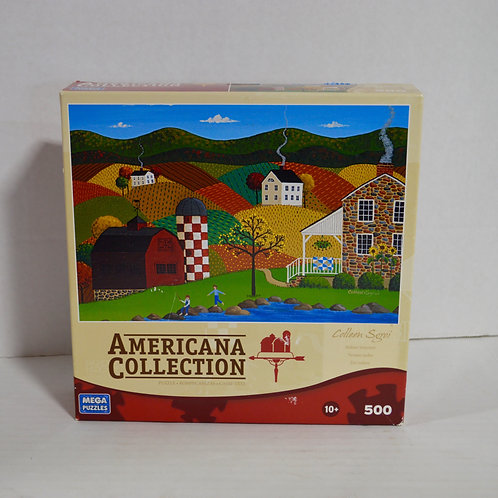 """500 piece Puzzle """"Indian Summer"""" Americana Collection by Mega Puzzles"""