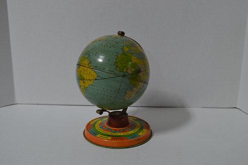 Small Tin Globe with Calendar