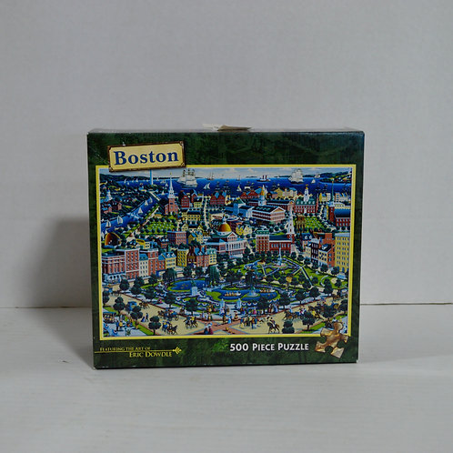 "500 Piece Puzzle ""Boston"" Eric Dowlde by Master Pieces $2.50"