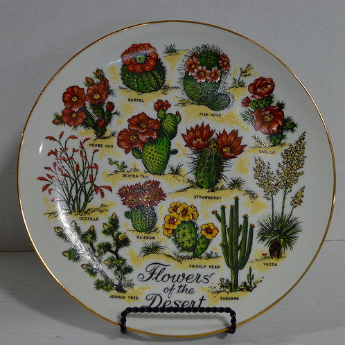 Flowers of the Desert Limited Edition Plate