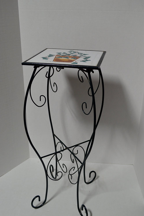 Metal Plant Stand with Ceramic Tile Top