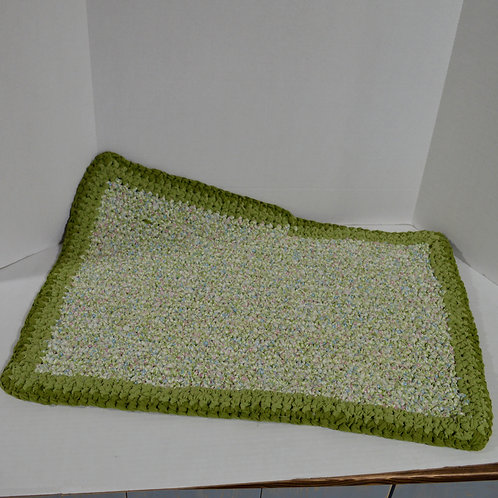 Green Homemade Rag Rug