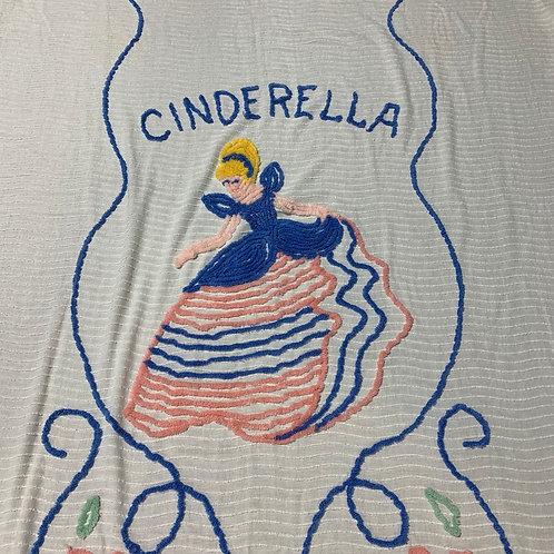 Cinderella Twin Chenille Bed Cover