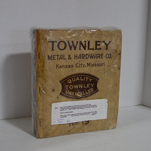 1932 Townley Metal & Hardware Company Catalog