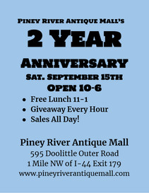 2 Year Annivesary Piney River Antique Ma