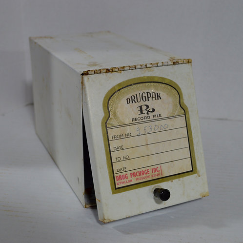 Vintage Drug Package, Inc Pharmacist's Record File from O'fallon, MO
