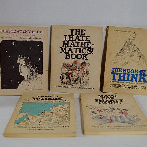 Set of 5 Brown Paper School Books