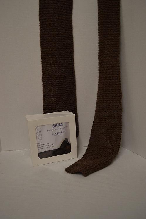 100% Alpaca Wool Easy Knit Scarf Kit