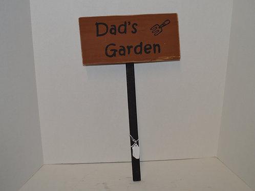 Dad's Garden Sign