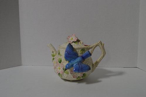 Fitz & Floyd Bluebird Teapot