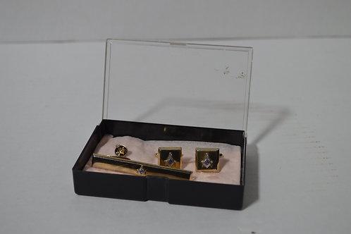Masonic Cufflinks, Pin & Tie Clip set