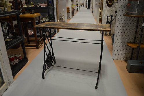Reclaimed Wood Table on Singer Sewing Machine Base