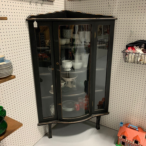 Black Distressed Curio Cabinet