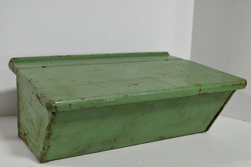 Vintage Chippy Green School Desk Top