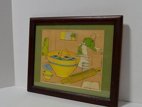Vintage Tom Thumb framed photo