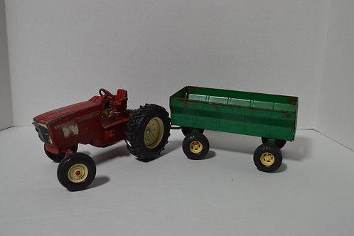 Vintage Metal Ertl Tractor& Trailer