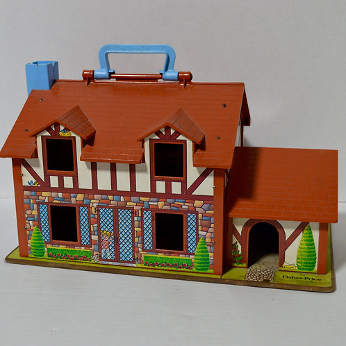Vintage Fisher Price Little People Dollhouse
