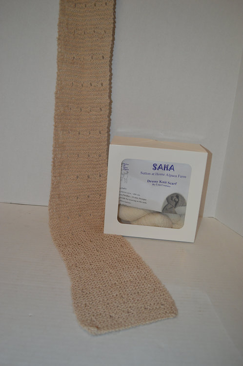 100% Alpaca Wool Dressy Knit Scarf Kit