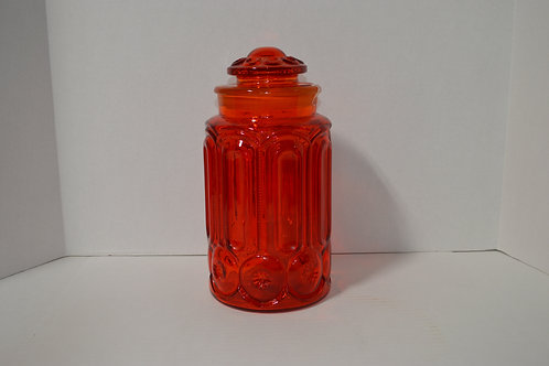 Amberina Moon & Stars Large Canister