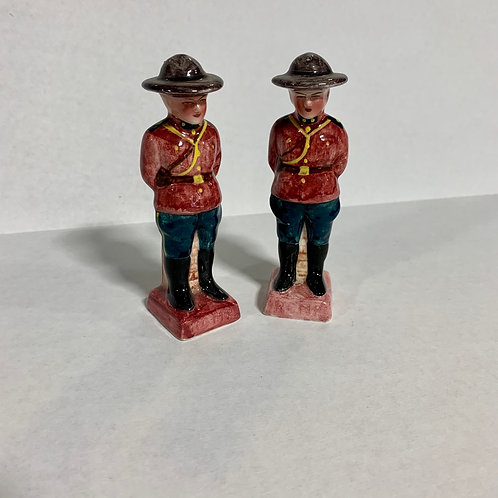 Canadian Royal Mountie Salt & Pepper Shakers