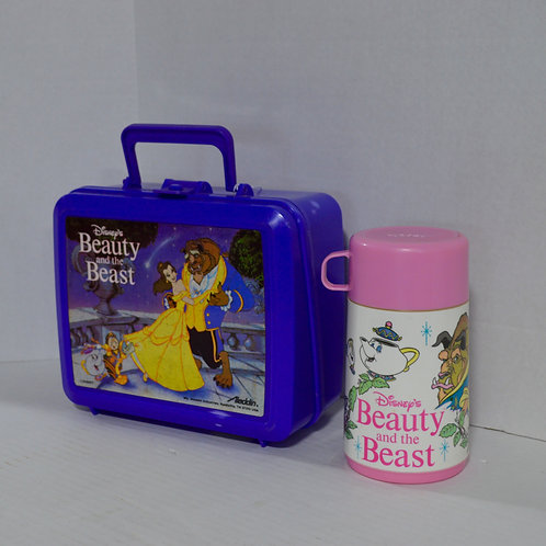 Beauty and The Beast Aladdin Lunch Box with Thermos