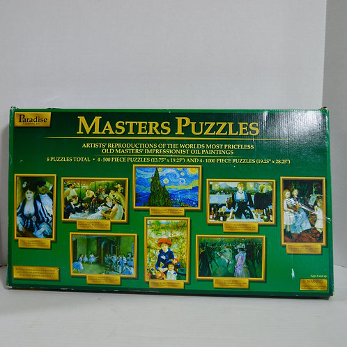 "8 ""Masters Puzzles"" of Master Artists by Paradise Creations"