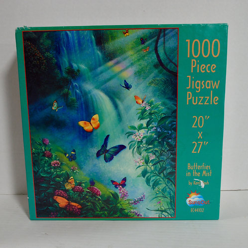 "1000 Piece Puzzle ""Butterflies in the Mist"" by Kent Bash by SunsOut"