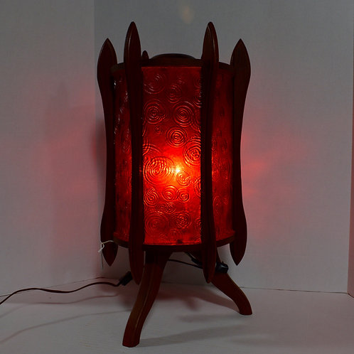 Red Mid-Century Modern MCM Lamp