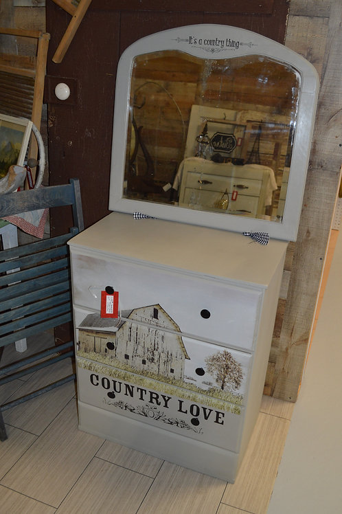Country Love Dresser with Mirror