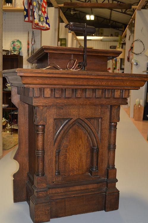 Antique Oak Church Lectern or Podium