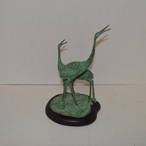Tojo Bronze Heron Sculpture