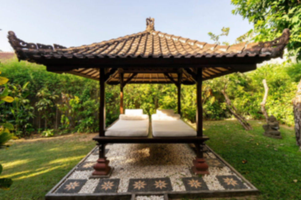 Your own backyard massage at Zen Villa