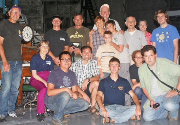 The participants of a Mt. Wilson Double Star Workshop pose in front of the 100-inch Hooker telescope control desk.