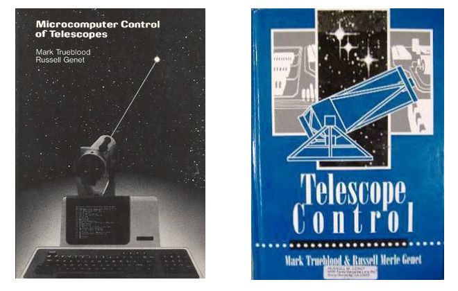 Mark Trueblood and Russell Genet's two pioneering books (1985 and 1997) on the microcomputer control of telescopes were quite influential not only with respect to computerized telescope control, but also the full automation of both telescopes and observatories.