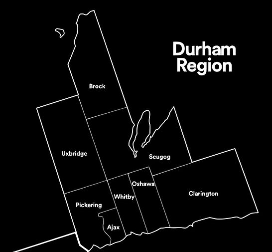 Durham Region Municipalities Map