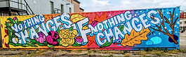 Local Oshawa artists beautify shipping container