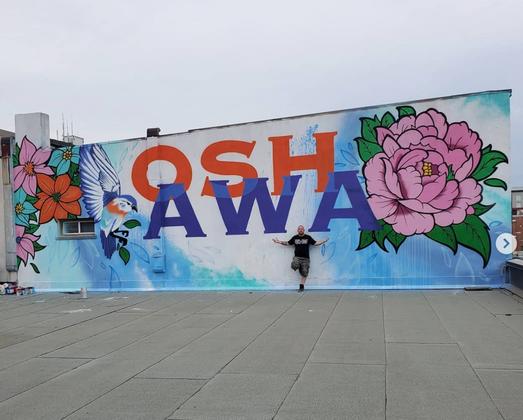 Oshawa Rooftop Mural
