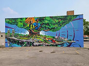 Oshawa mural celebrates green initiatives in the auto industry