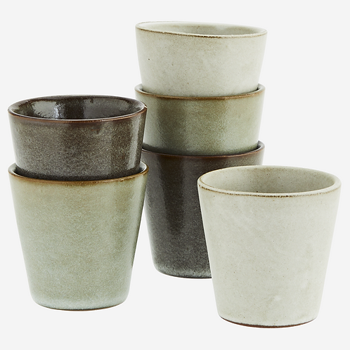 Stoneware cups-set of 6
