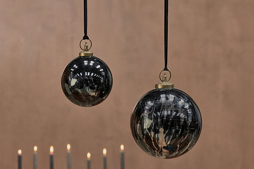 Danoa Giant Bauble Round Aged Smoke & Black