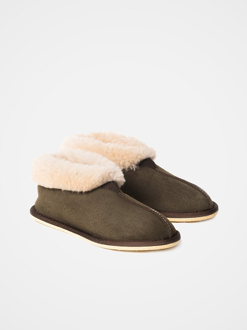 Ladies' Sheepskin Bootee Slippers Moorland